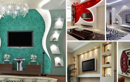 Alçıpan Duvar Ünite Ve Dekorasyon Modelleri 2
