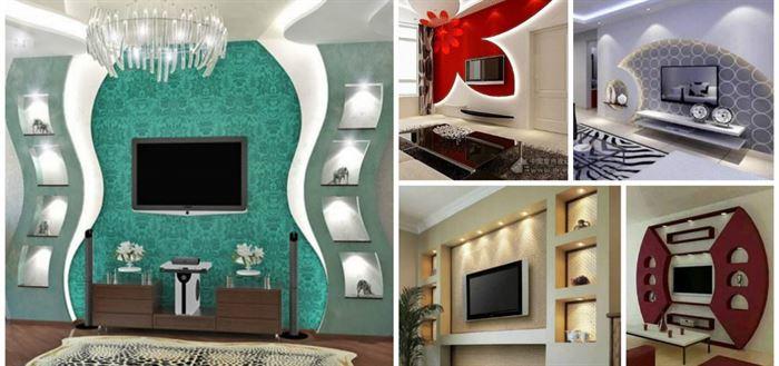 Alçıpan Duvar Ünite Ve Dekorasyon Modelleri 30
