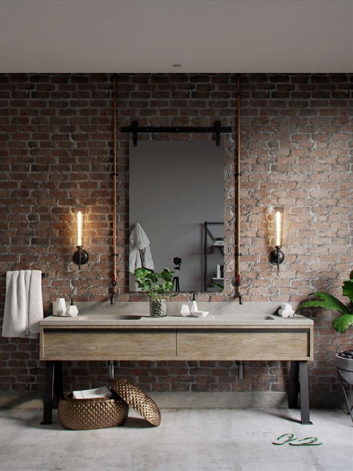 Endüstriyel Tarz Banyo Dekorasyon Stilleri 48