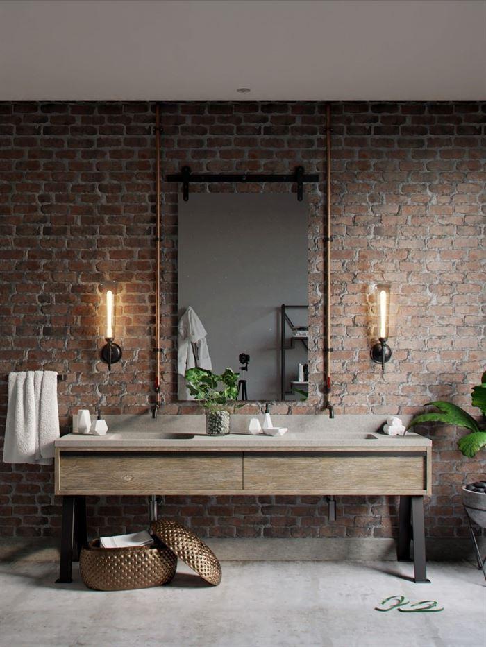 endustriyel tarz banyo dekorasyon 1