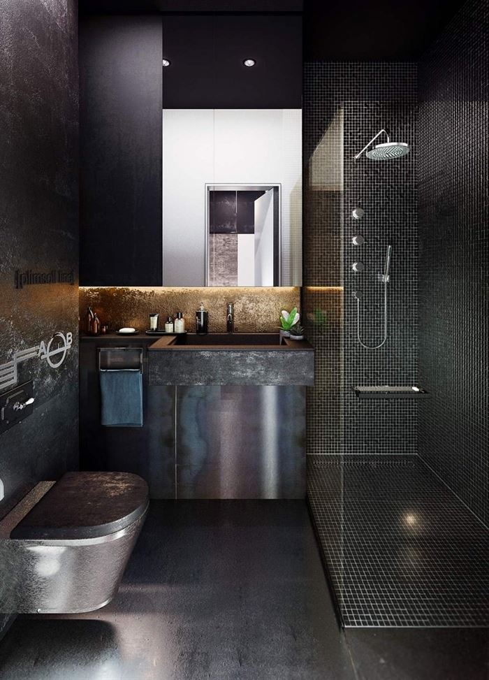 Endüstriyel Tarz Banyo Dekorasyon Stilleri 5
