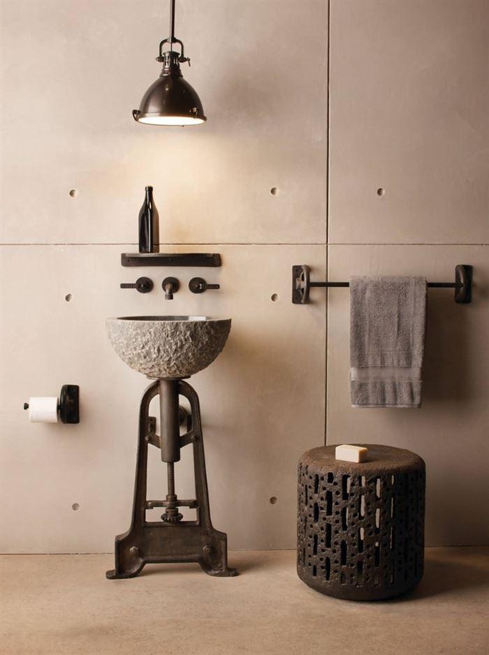 Endüstriyel Tarz Banyo Dekorasyon Stilleri 8