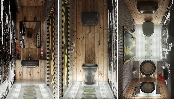 Endüstriyel Tarz Banyo Dekorasyon Stilleri 1