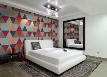 geometrik desenli duvar kağıtları