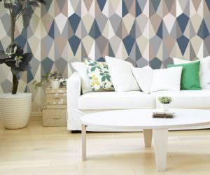 Her Odaya  Uygun Geometrik Desenli Duvar Kağıtları