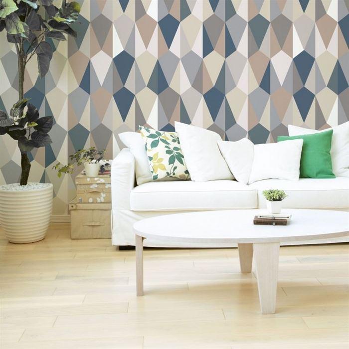 Her Odaya  Uygun Geometrik Desenli Duvar Kağıtları 5