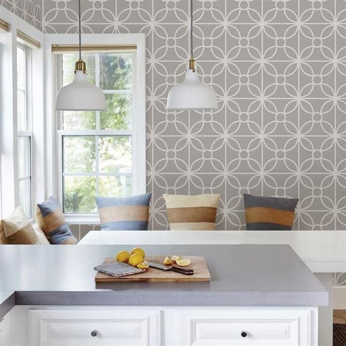 Geometrik Desenli Duvar Kağıtları geometric in the kitchen