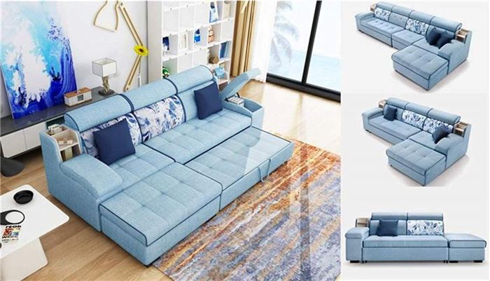 Multifunctional Linen Fabric Sofa