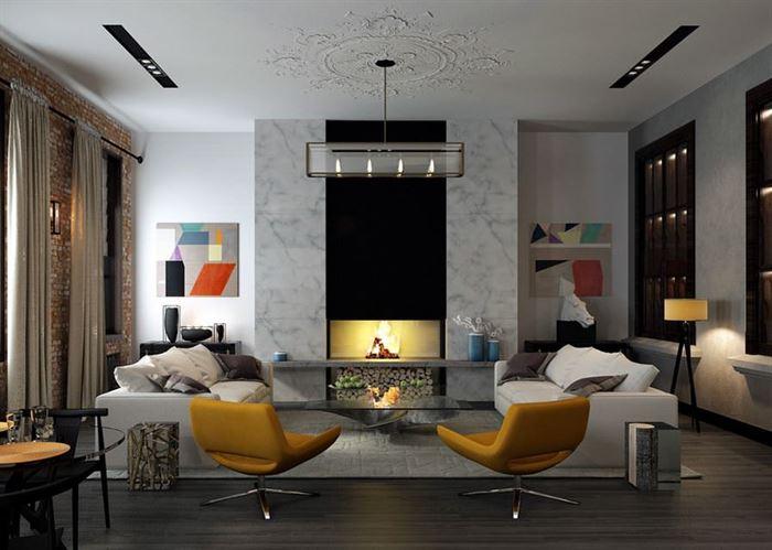 çok güzel dekorasyonlu oda