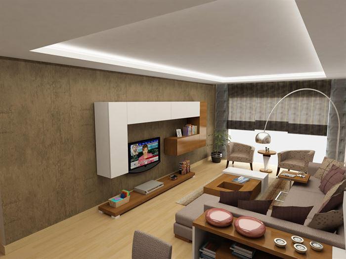 lüks daire modern dekorasyon