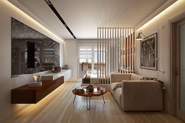modern mobilyalı oturma odası dekorasyon