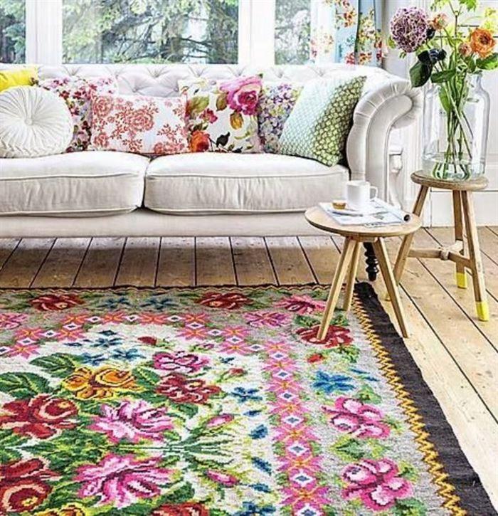 çiçek desenli dekorasyon