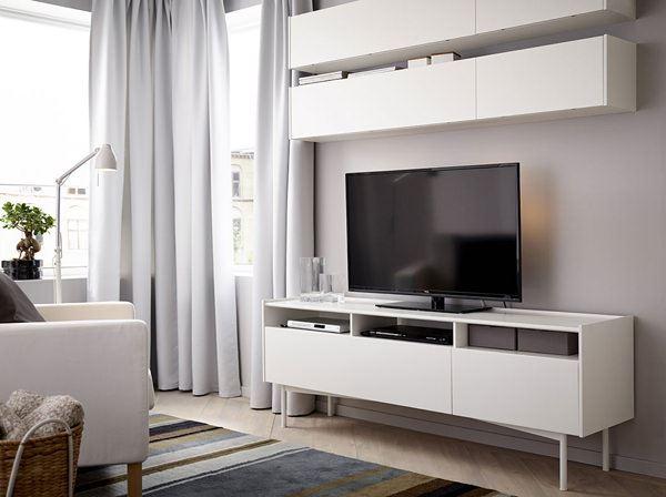 ikea beyaz tv ünite