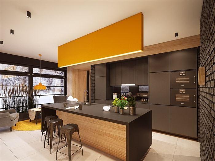 dekoratif koyu lüks mutfak