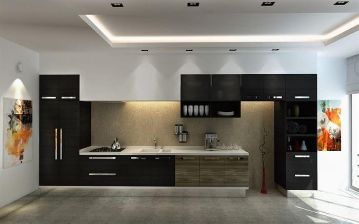 koyu mutfak dolap modelleri