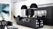 Koyu Renk Çarpıcı Dekoratif Mutfak Tasarımları