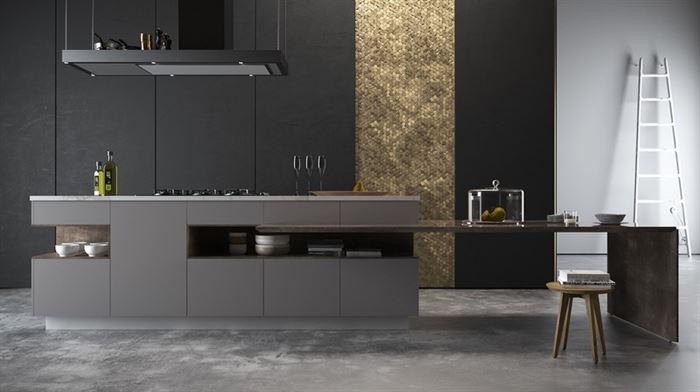 koyu renkli mutfak dekorasyon