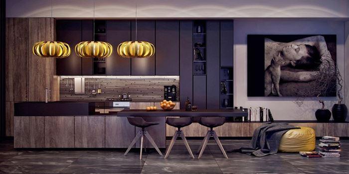 moda koyu mutfak