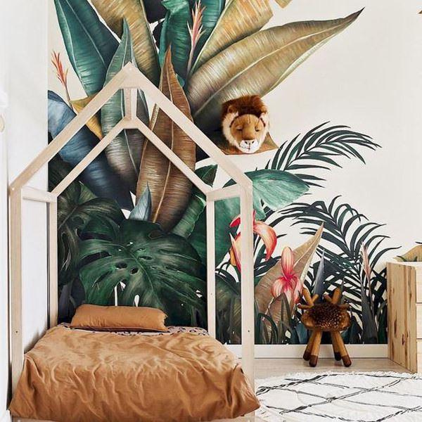 çocuk odası dekorasyon doğa temalı