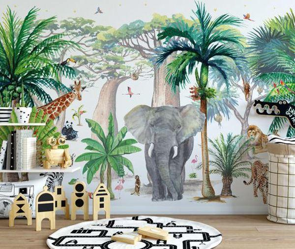 orman temalı çocuk odası dekorasyon