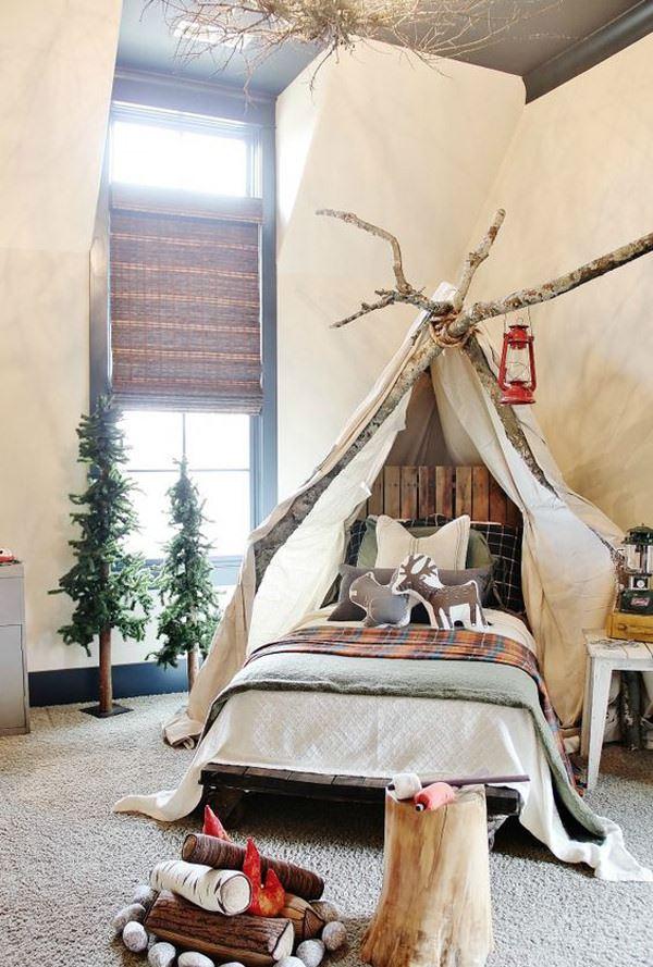 doğa temalı çocuk odası