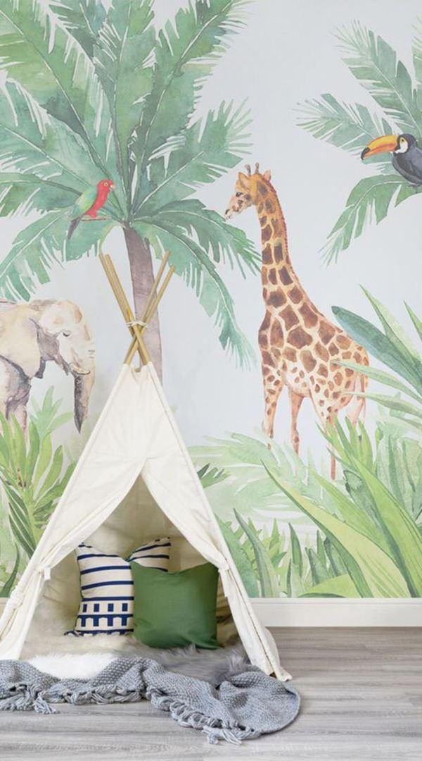 doğa temalı çocuk odası dekorasyon