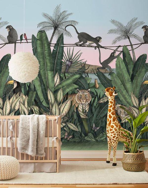 çocuk odası hayvan temalı