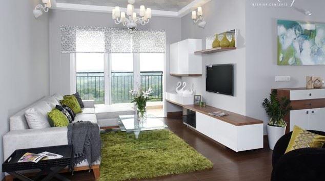 oturma odası beyaz dekorasyon