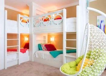 beyaz çocuk odası ranza modeli