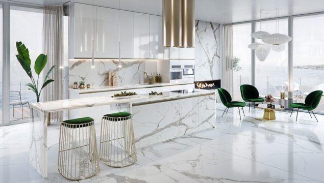 Modern Lüks Açık Mutfak Tasarımları ve Renkleri