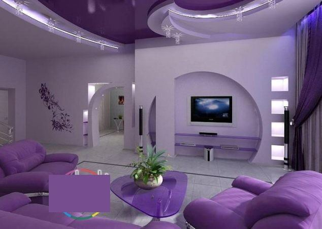 lila alçıpan dekorasyonları