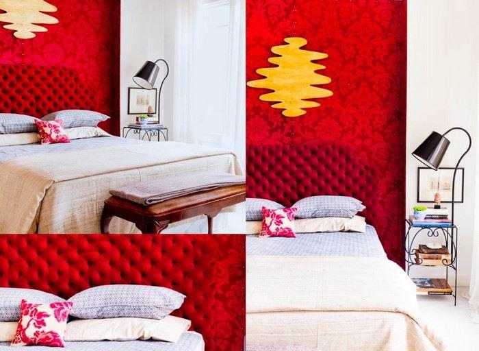 kırmızı renk dekorasyon