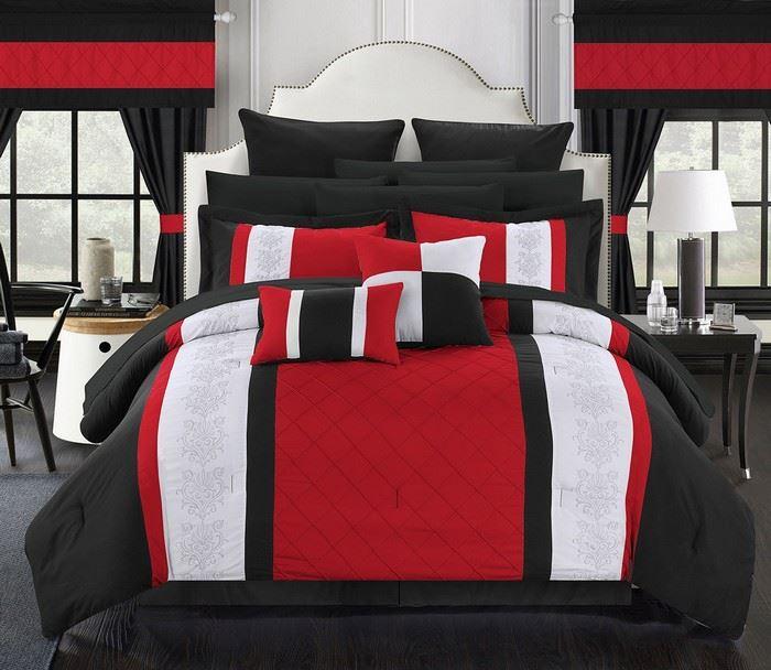 kırmızı beyaz yatak örtüsü
