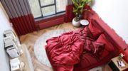Kırmızı Renk Kombinleri İle Yatak Odası Dekorasyonları