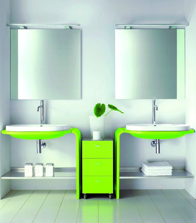 yeşil fosforlu renk banyo