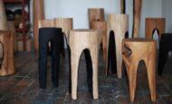 Ağaç Kütükten Tasarlanan İlginç Tabure Modelleri