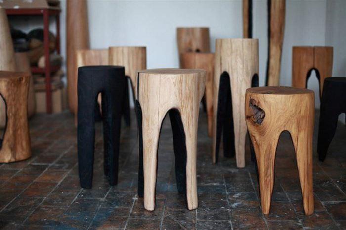 Ağaç Kütük Tabure Modelleri