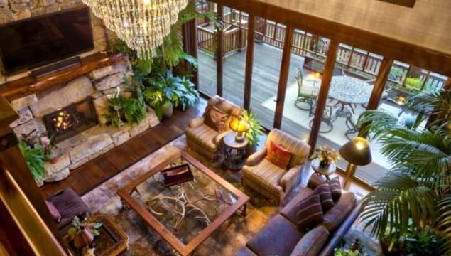 Rustik Salon Mobilya Ve Dekorasyon Fikirleri