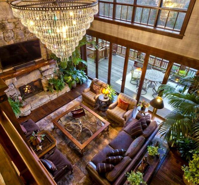 Rustik Salon Mobilya Ve Dekorasyon Fikirleri 14