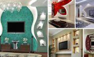 Alçıpan Duvar Ünite Ve Dekorasyon Modelleri