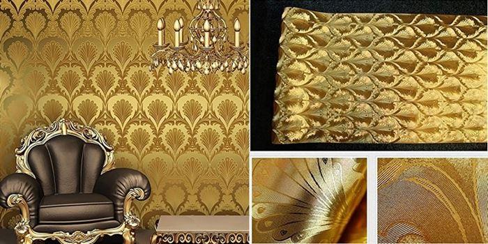 Altın Varaklı Duvar Kağıt Desenleri