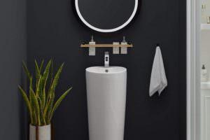 Ayaklı Yeni Tasarım Banyo Lavabo Modelleri 13