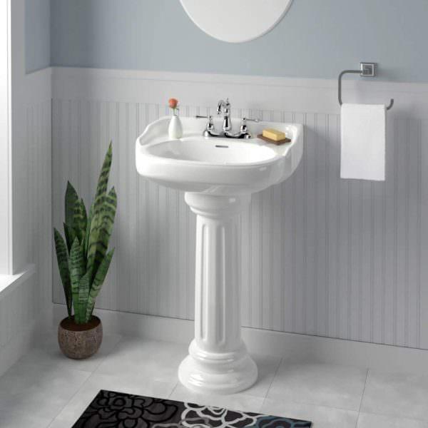 Ayaklı Yeni Tasarım Banyo Lavabo Modelleri 12