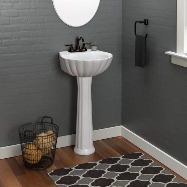 Ayaklı Yeni Tasarım Banyo Lavabo Modelleri 14