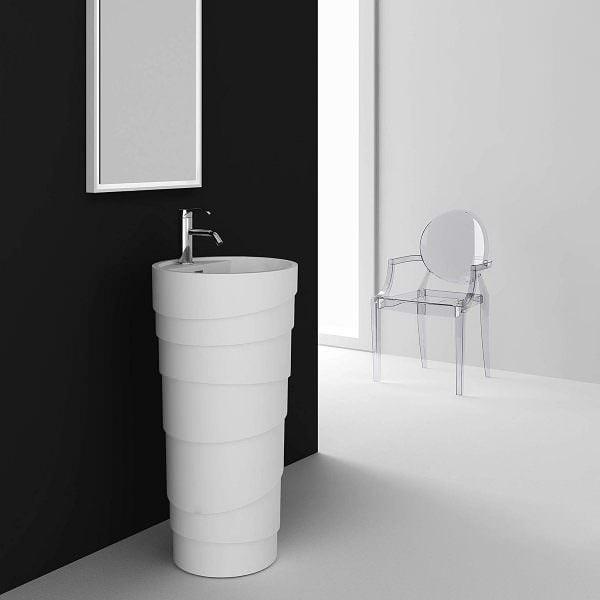 Ayaklı Yeni Tasarım Banyo Lavabo Modelleri 19