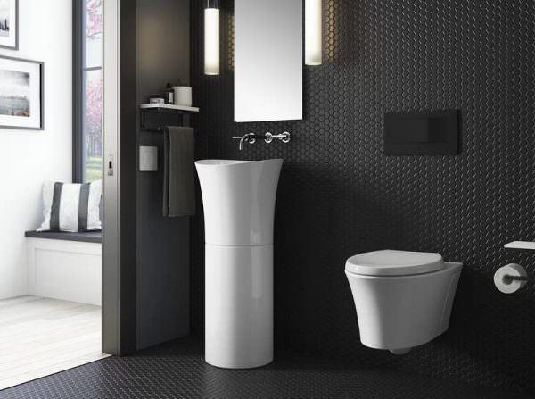 Ayaklı Yeni Tasarım Banyo Lavabo Modelleri 20