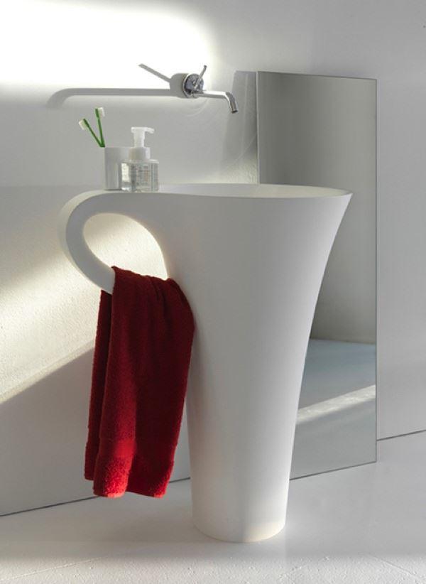 Ayaklı Yeni Tasarım Banyo Lavabo Modelleri 21