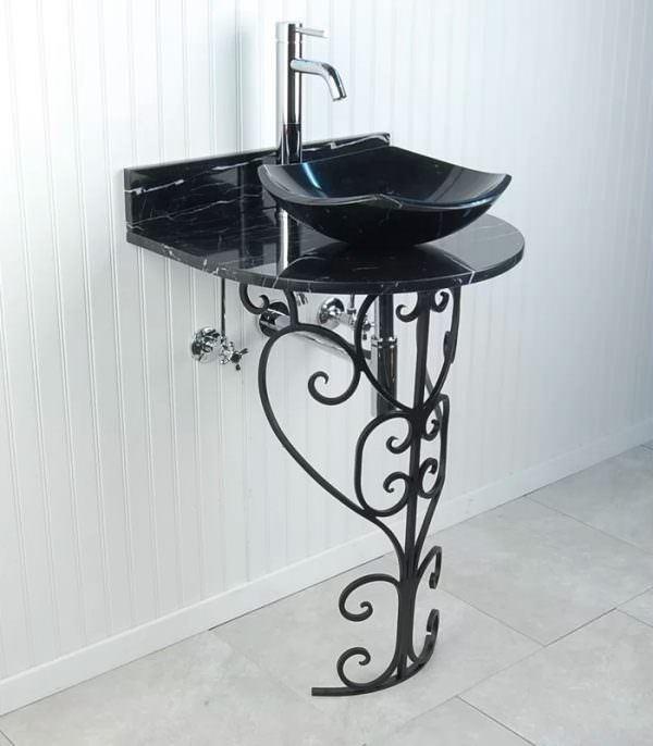 Ayaklı Yeni Tasarım Banyo Lavabo Modelleri 22