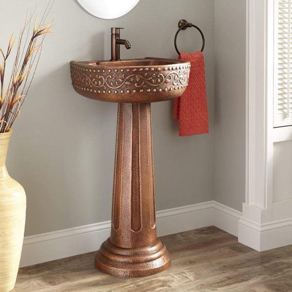 Ayaklı Yeni Tasarım Banyo Lavabo Modelleri 24