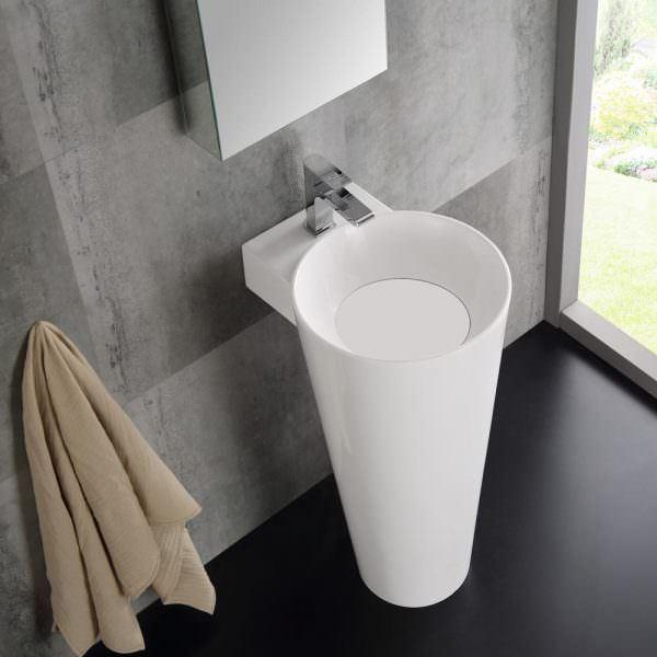 Ayaklı Yeni Tasarım Banyo Lavabo Modelleri 4